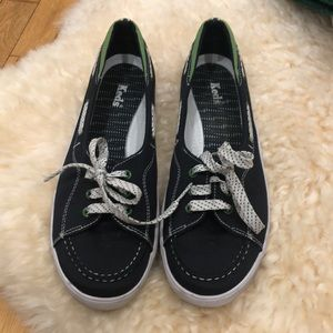 KEDS women's deck shoes navy and green size 10